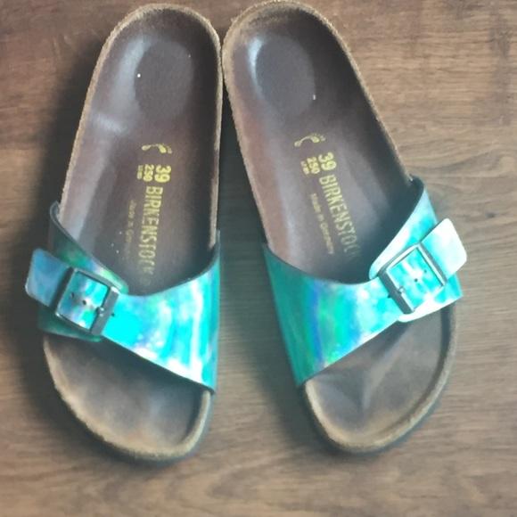 Birkenstock Blue Madrid Mirror Sandals